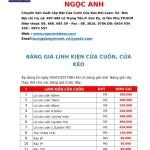Bảng giá cửa cuốn đài loan giá rẻ của nhà sản xuất